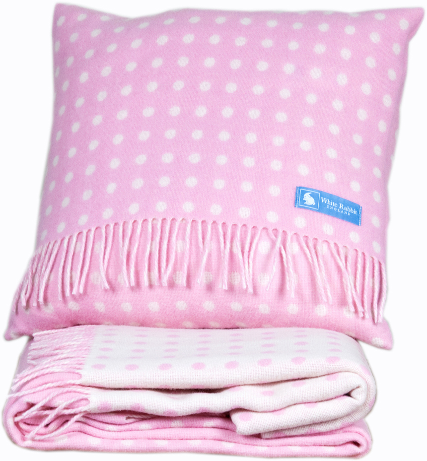 pink bedroom cushions childrens pink spotty cushion white rabbit 12835
