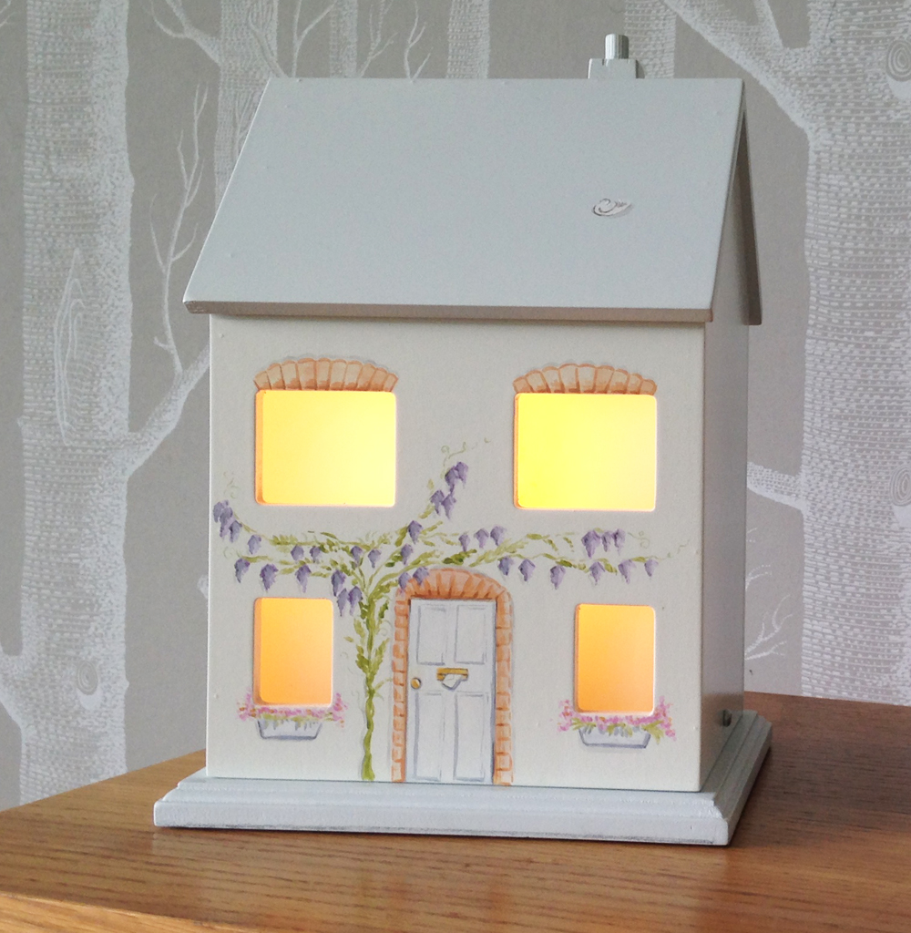 Wooden House Lamp