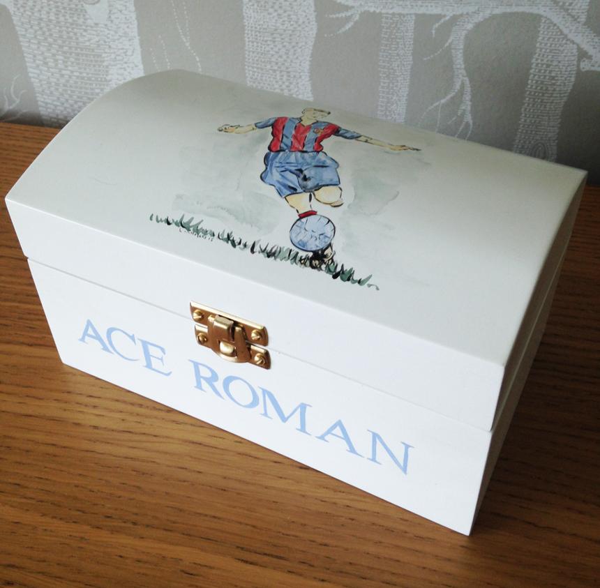 Childrens Personalised Treasure Box White Rabbit England