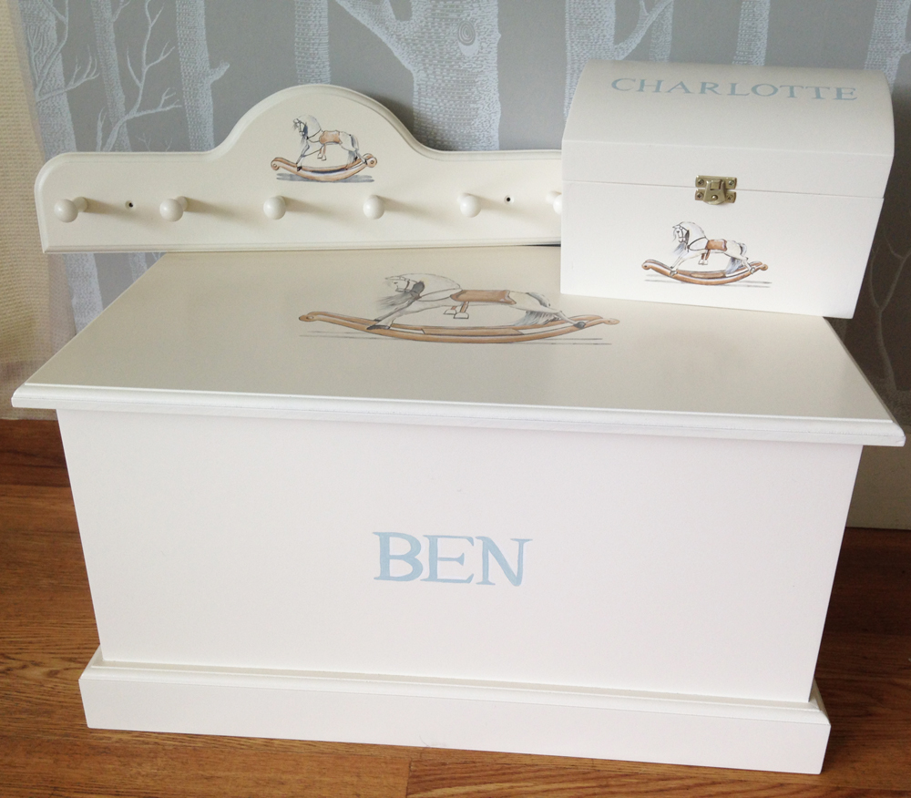 Childrens personalised toy box | White Rabbit England Childrens' interiors, lighting and gifts