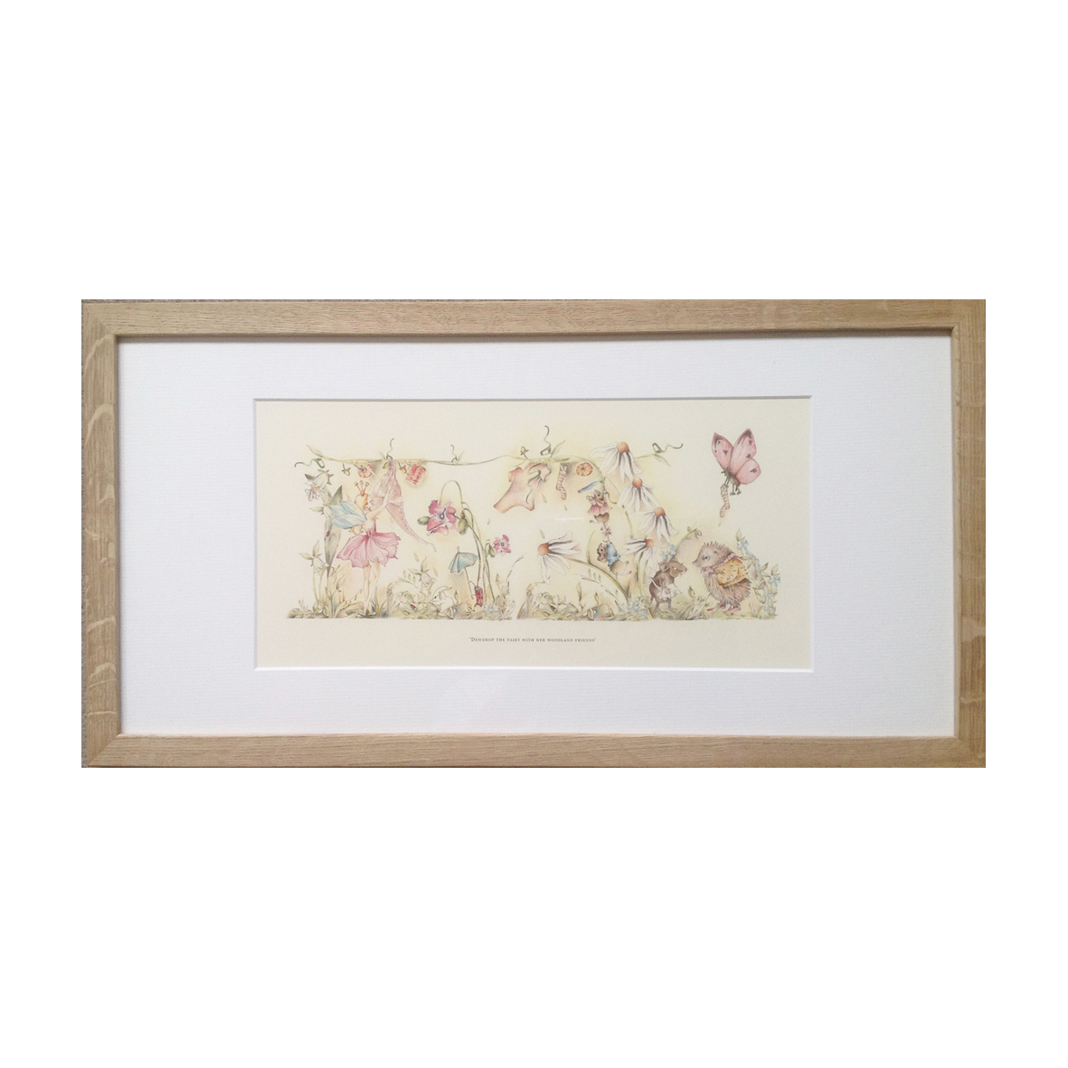 childrens large fairy print white rabbit england childrens