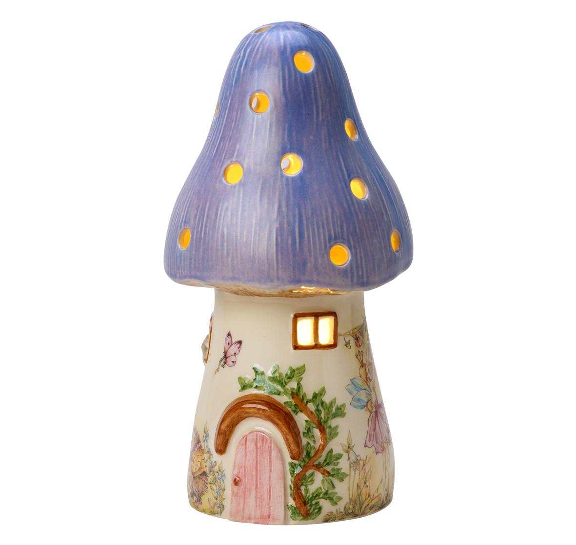 Childrens Lilac Fairy Mushroom Lamp