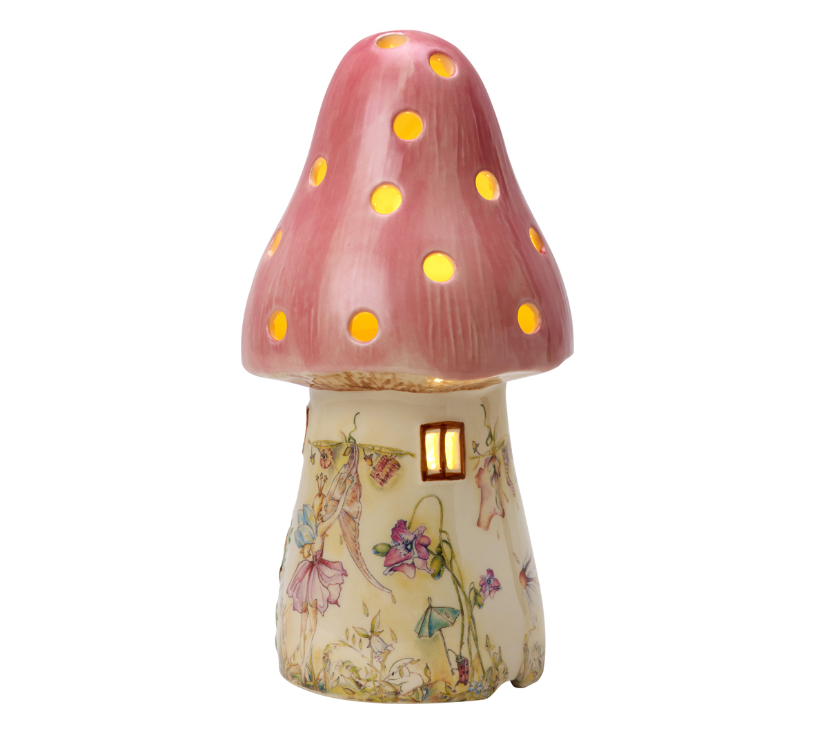 Pink Bedrooms Childrens Pink Fairy Mushroom Lamp White Rabbit England