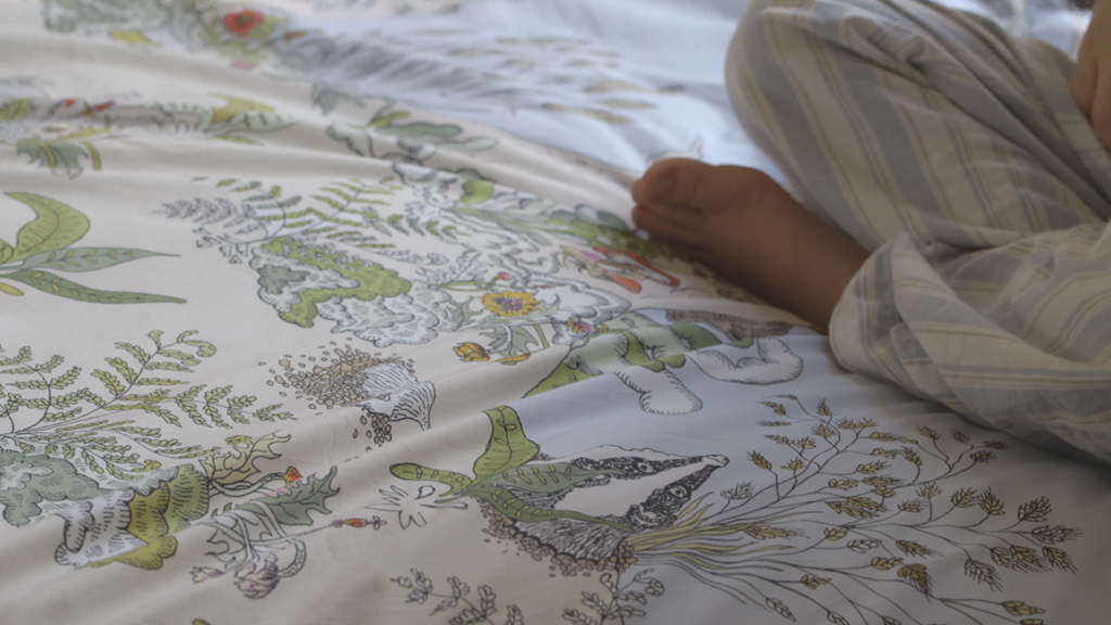 Childrens Enchanted Forest Duvet Set White Rabbit