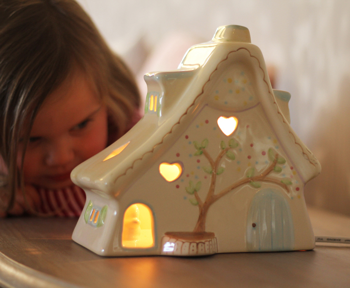 Childrens House Lamp White Rabbit England Childrens