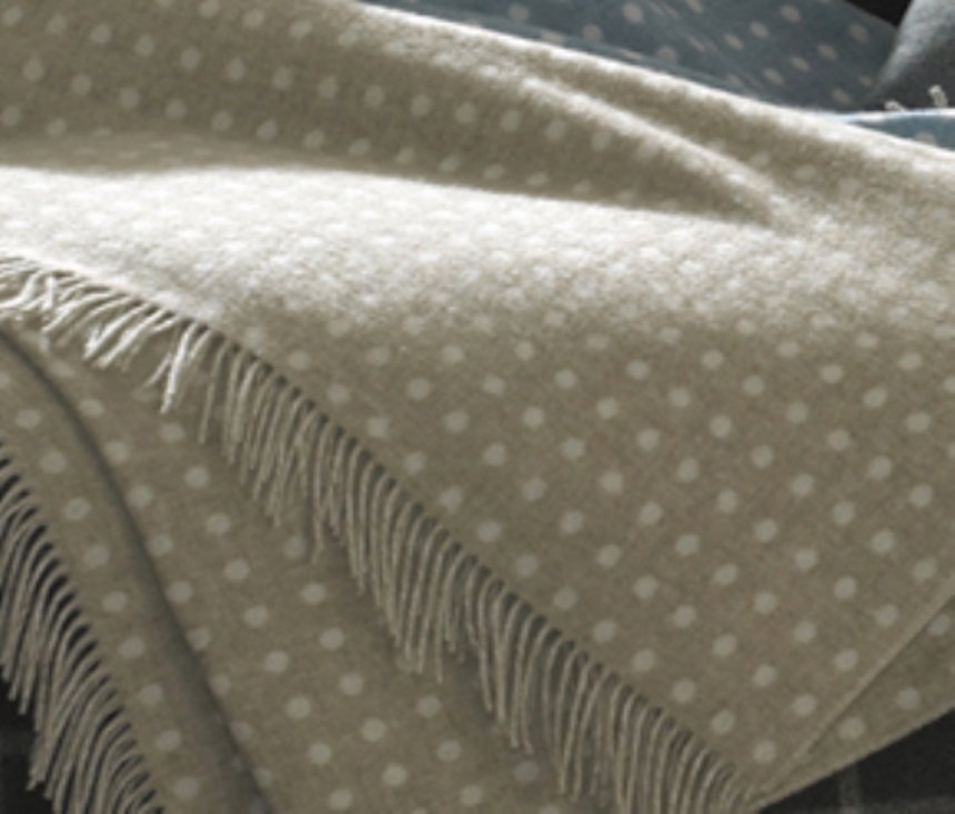 Childrens Large Spotty Throws White Rabbit England