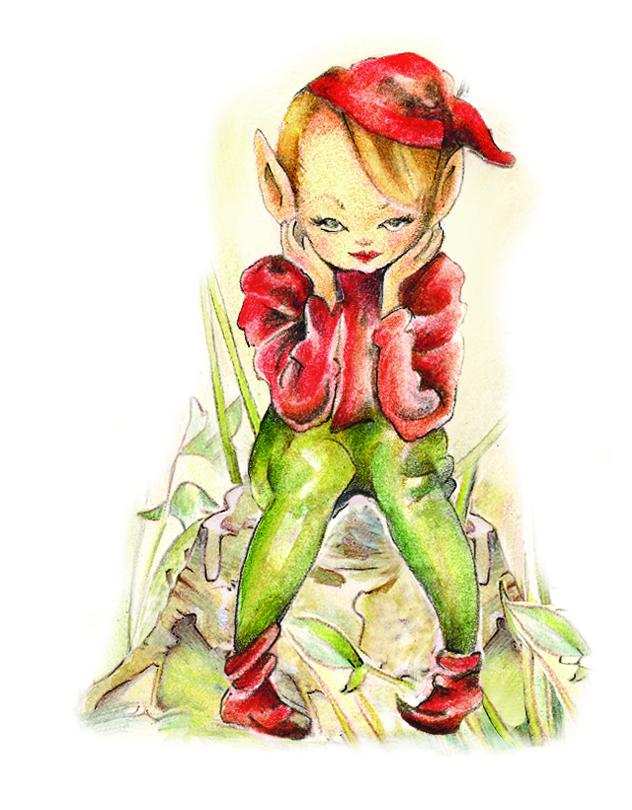 Childrens Red Elf Mushroom Lamp White Rabbit England