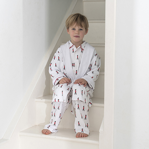 Childrens Soldier Dressing Gown | White Rabbit England Childrens ...
