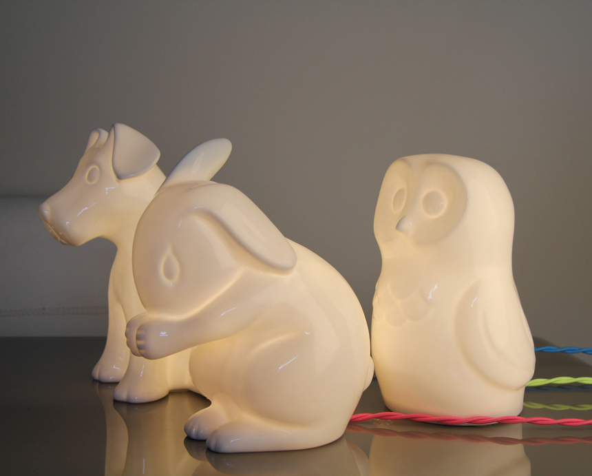 childrens horse table lamp white rabbit england interiors lighting and gifts